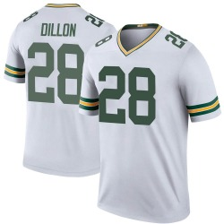 AJ Dillon Green Bay Packers Youth Color Rush Legend Nike Jersey - White