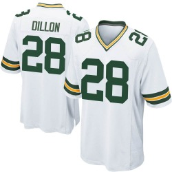 AJ Dillon Green Bay Packers Youth Game Nike Jersey - White