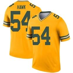 A.J. Hawk Green Bay Packers Men's Legend Inverted Nike Jersey - Gold