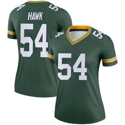 A.J. Hawk Green Bay Packers Women's Legend Nike Jersey - Green