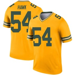 A.J. Hawk Green Bay Packers Youth Legend Inverted Nike Jersey - Gold