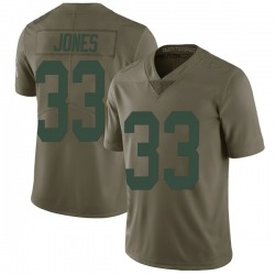 Aaron Jones Green Bay Packers Men's Limited Salute to Service Nike Jersey - Green