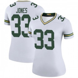 Aaron Jones Green Bay Packers Women's Color Rush Legend Nike Jersey - White