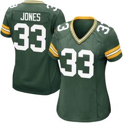 Aaron Jones Green Bay Packers Women's Game Team Color Nike Jersey - Green