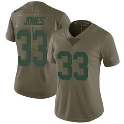 Aaron Jones Green Bay Packers Women's Limited Salute to Service Nike Jersey - Green