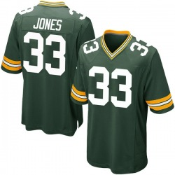 Aaron Jones Green Bay Packers Youth Game Team Color Nike Jersey - Green