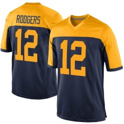 Aaron Rodgers Green Bay Packers Men's Game Alternate Nike Jersey - Navy