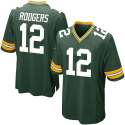 Aaron Rodgers Green Bay Packers Men's Game Team Color Nike Jersey - Green