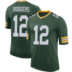 Aaron Rodgers Green Bay Packers Men's Limited 100th Vapor Nike Jersey - Green