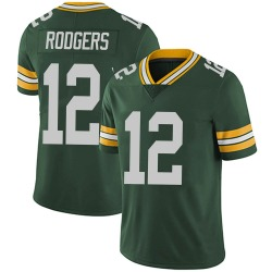 Aaron Rodgers Green Bay Packers Men's Limited Team Color Vapor Untouchable Nike Jersey - Green