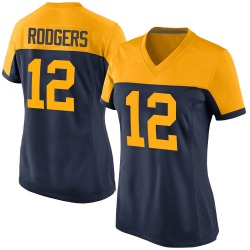 Aaron Rodgers Green Bay Packers Women's Game Alternate Nike Jersey - Navy