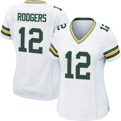 Aaron Rodgers Green Bay Packers Women's Game Nike Jersey - White