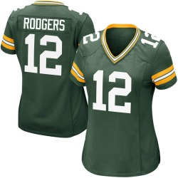 Aaron Rodgers Green Bay Packers Women's Game Team Color Nike Jersey - Green