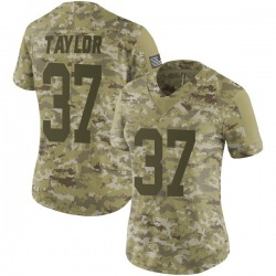 Aaron Taylor Green Bay Packers Women's Limited 2018 Salute to Service Nike Jersey - Camo