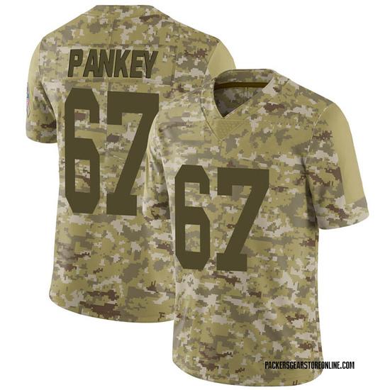 Adam Pankey Green Bay Packers Men's Limited 2018 Salute to Service Nike Jersey - Camo