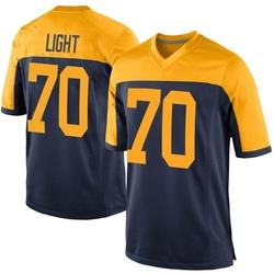 Alex Light Green Bay Packers Men's Game Alternate Nike Jersey - Navy