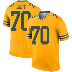 Alex Light Green Bay Packers Men's Legend Inverted Nike Jersey - Gold
