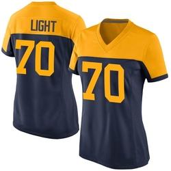 Alex Light Green Bay Packers Women's Game Alternate Nike Jersey - Navy