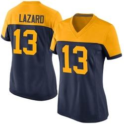 Allen Lazard Green Bay Packers Women's Game Alternate Nike Jersey - Navy