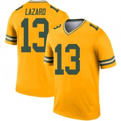 Allen Lazard Green Bay Packers Youth Legend Inverted Nike Jersey - Gold