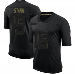 Bart Starr Green Bay Packers Men's Limited 2020 Salute To Service Nike Jersey - Black
