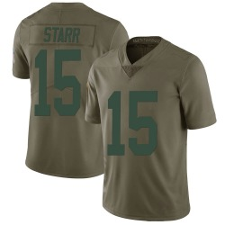 Bart Starr Green Bay Packers Men's Limited Salute to Service Nike Jersey - Green