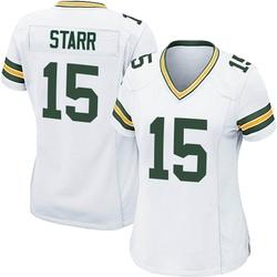 Bart Starr Green Bay Packers Women's Game Nike Jersey - White