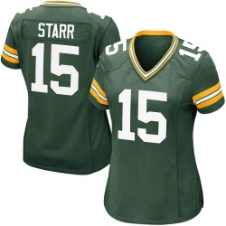 Bart Starr Green Bay Packers Women's Game Team Color Nike Jersey - Green