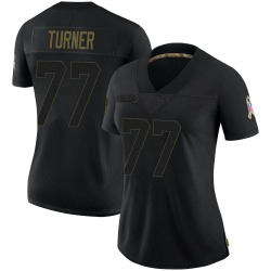 Billy Turner Green Bay Packers Women's Limited 2020 Salute To Service Nike Jersey - Black