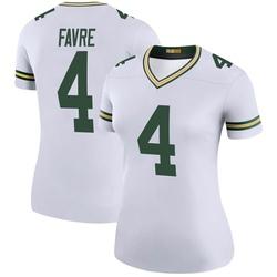 Brett Favre Green Bay Packers Women's Color Rush Legend Nike Jersey - White