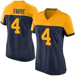 Brett Favre Green Bay Packers Women's Game Alternate Nike Jersey - Navy