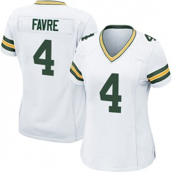 Brett Favre Green Bay Packers Women's Game Nike Jersey - White