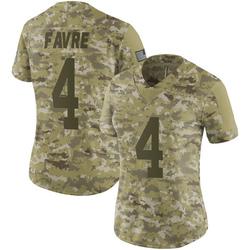 Brett Favre Green Bay Packers Women's Limited 2018 Salute to Service Nike Jersey - Camo