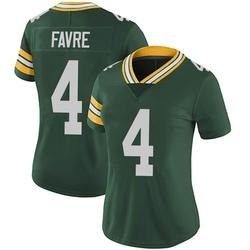 Brett Favre Green Bay Packers Women's Limited Team Color Vapor Untouchable Nike Jersey - Green