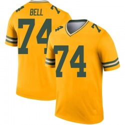 Byron Bell Green Bay Packers Men's Legend Inverted Nike Jersey - Gold