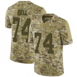 Byron Bell Green Bay Packers Men's Limited 2018 Salute to Service Nike Jersey - Camo