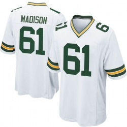 Cole Madison Green Bay Packers Men's Game Nike Jersey - White