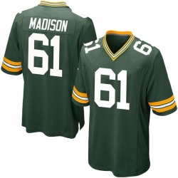 Cole Madison Green Bay Packers Men's Game Team Color Nike Jersey - Green