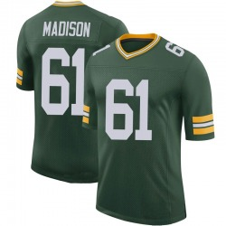 Cole Madison Green Bay Packers Men's Limited 100th Vapor Nike Jersey - Green