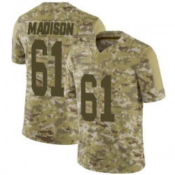 Cole Madison Green Bay Packers Men's Limited 2018 Salute to Service Nike Jersey - Camo