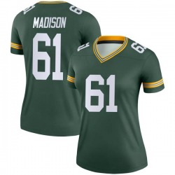 Cole Madison Green Bay Packers Women's Legend Nike Jersey - Green