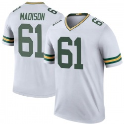Cole Madison Green Bay Packers Youth Color Rush Legend Nike Jersey - White