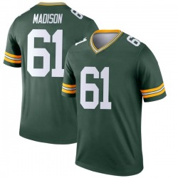 Cole Madison Green Bay Packers Youth Legend Nike Jersey - Green
