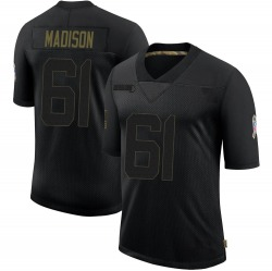 Cole Madison Green Bay Packers Youth Limited 2020 Salute To Service Nike Jersey - Black