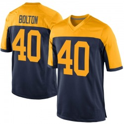 Curtis Bolton Green Bay Packers Men's Game Alternate Nike Jersey - Navy