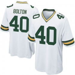 Curtis Bolton Green Bay Packers Men's Game Nike Jersey - White