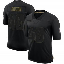 Curtis Bolton Green Bay Packers Men's Limited 2020 Salute To Service Nike Jersey - Black