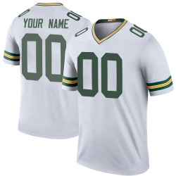 Custom Green Bay Packers Men's Custom Color Rush Legend Nike Jersey - White