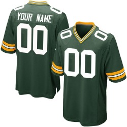 Custom Green Bay Packers Men's Game Custom Team Color Nike Jersey - Green