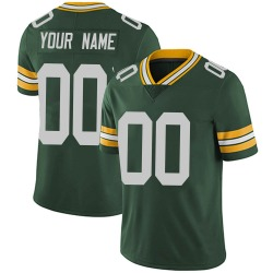 Custom Green Bay Packers Men's Limited Custom Team Color Vapor Untouchable Nike Jersey - Green